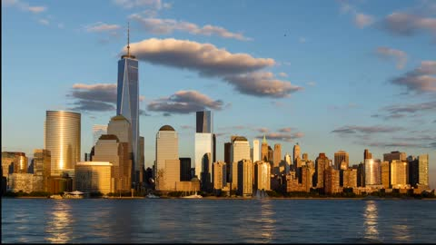 Beautiful New York City Skyline Time Lapse From Day To Night