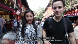 Chongqing Street Food With Locals | Sweet Potato Noodles - Video