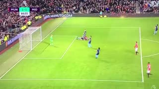 Anthony Martial amazing goal vs Middlesbrough - Video