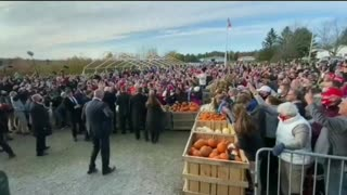 EPIC Reception for President Trump in Levant, Maine 10-25-2020