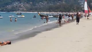 Patong Beach Phuket Thailand Bikini babes - Video