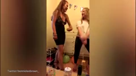 Dancing Babe Gets A Painful Rear-End Surprise