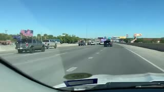 Biden Bus escorted out of town!