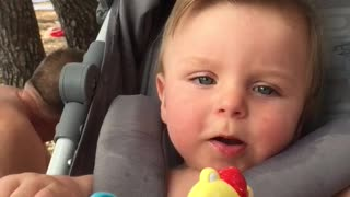 Baby's first words  - Video