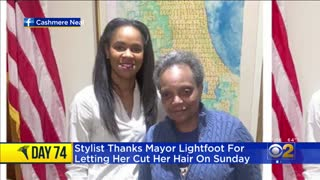Chicago's Dem mayor Lori Lightfoot slammed for getting haircut while locking everyone else down