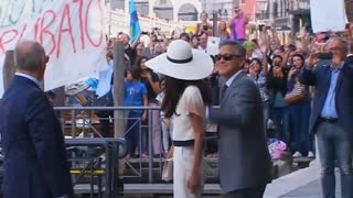 Clooney, Alamuddin formalize marriage; Lopez involved in accident - Video