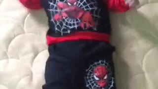 Spiderman baby version  so cute  - Video
