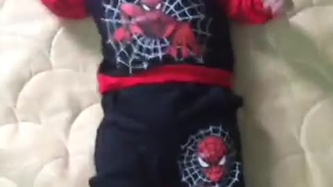 Spiderman baby version so cute