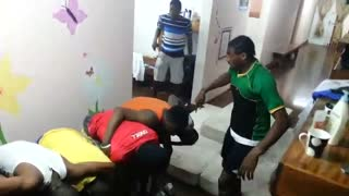 Musical Man Leaps Over 10 People In A Line To Land On Mattresses