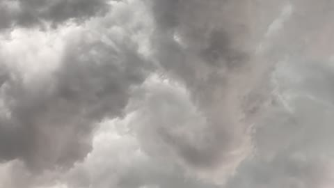 Time-Lapse of Tornado Forming Over House