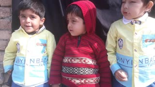 Interview of three little boys  - Video