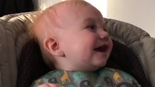 Adorable baby laugh  - Video