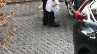 Two-Year-Old Girl Refuses to Walk - Video
