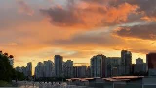 Beautiful Sunset - Science World Vancouver