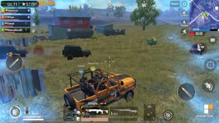 Team Surviving In Blue Zone Pubg Game