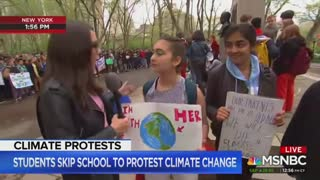 MSNBC praises students skipping school for climate change