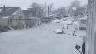 My Jaw Dropped When I Saw This Frozen Boston Stree4t - Video