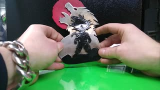 DRAGON BALL Z GOKU Red moon Belt buckle, HAND MADE SOLID Stainless steel.