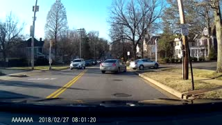 Bad Driver Receives Instant Karma