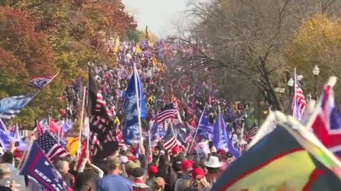 DC - Million MAGA March on the ground footage of the crowds