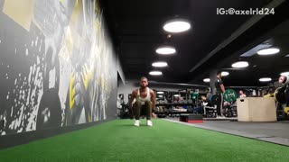 Guy workout grass gym backflip fail - Video