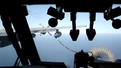 PAVE LOW Air Refueling (Cockpit View)