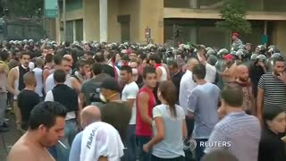 35 injured in Beirut anti-government protest - Video
