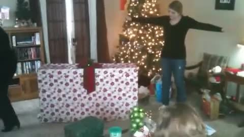 You won't believe how this woman reacts to this family Christmas surprise!
