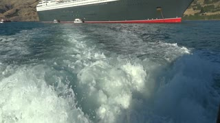 QM2 tendering at Russell, NZ  - Video