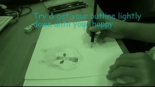 Wolf / Husky Drawing Tutorial by Cassie age 10  - Video
