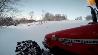 Reopening the farm road after a snowstorm!