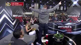 Rob Gronkowski Gives Lap Dance to Fox Sports Anchor Julie Stewart-Binks - Video