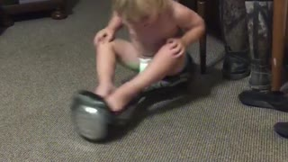Spinning Hover Board Fail
