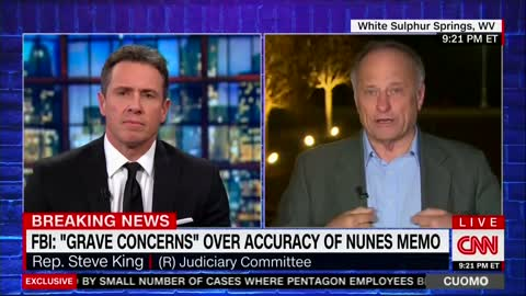 Things Get Explosive Between CNN's Chris Cuomo and Rep. Steve King As Two Duke it Out Over FISA Memo