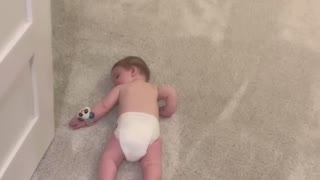 Baby Sleeping on Floor Regardless of Loud Vacuum