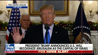Trump on Israel Embassy and Capitol - Video