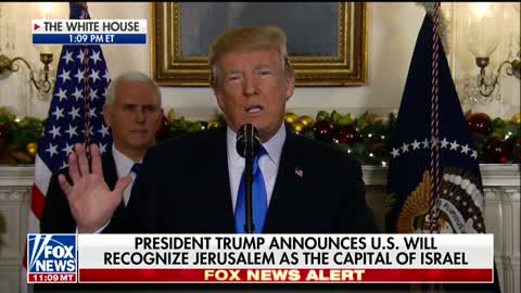 Trump on Israel Embassy and Capitol