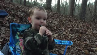 2 Year Old's First Hunt - Video