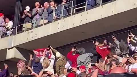 President Trump Greeted by Loud Cheers at Bama-LSU Game [WATCH]
