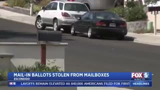 Thief caught on camera stealing mail-in ballots