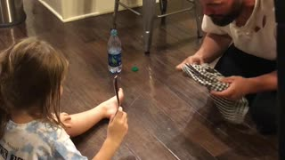 Adorable Moment Father Pranks Daughter