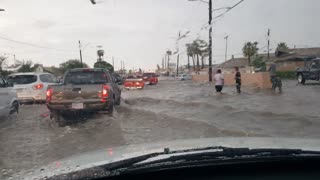 Flooding in Downtown Phoenix - Video