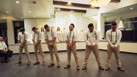 Epic bridal party flash mob dance performance