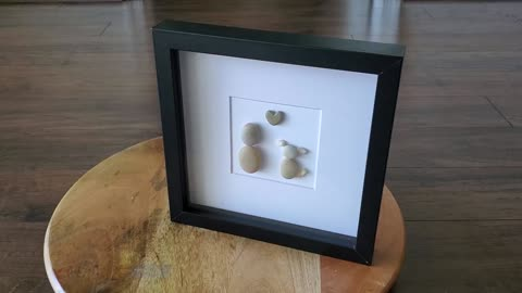 Pebble Artwork of Puppy and Best Friend