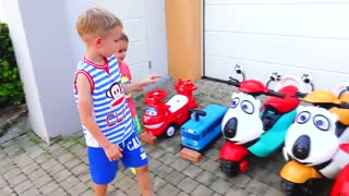 Vlad and Nikita - funny stories with Toys
