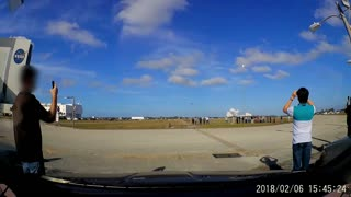 SpaceX Falcon Heavy Launch Vibrates Car - Video