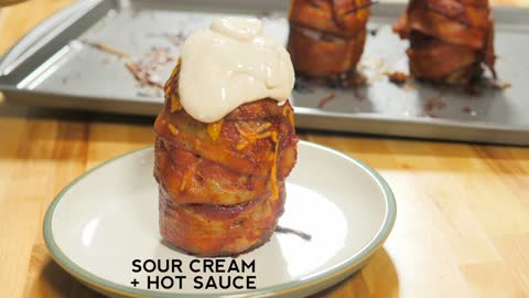 Make your own bacon potato volcano