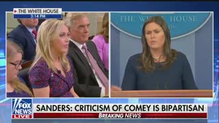 Sarah Sanders slams media for 'propping up' James Comey and - Video