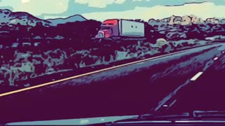 Hyperlapse Interstate 10 New Mexico Comic Style with Music from Root Basket