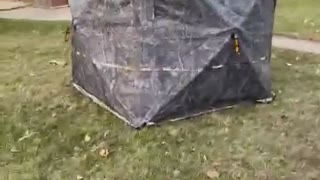 See Through Hunting Blind Makes a Perfect Hiding Spot